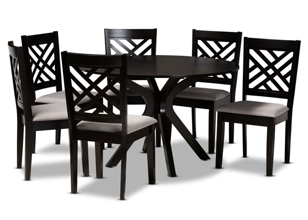 Baxton Studio Norah 7pc Dining Room Room Sets BAX-Norah-7PC-DR-S-VAR