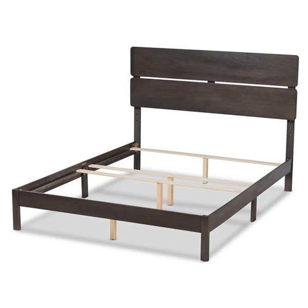 Baxton Studio Anthony Dark Grey Oak Wood Full Panel Bed BAX-MG0024-Green-Gray-Full