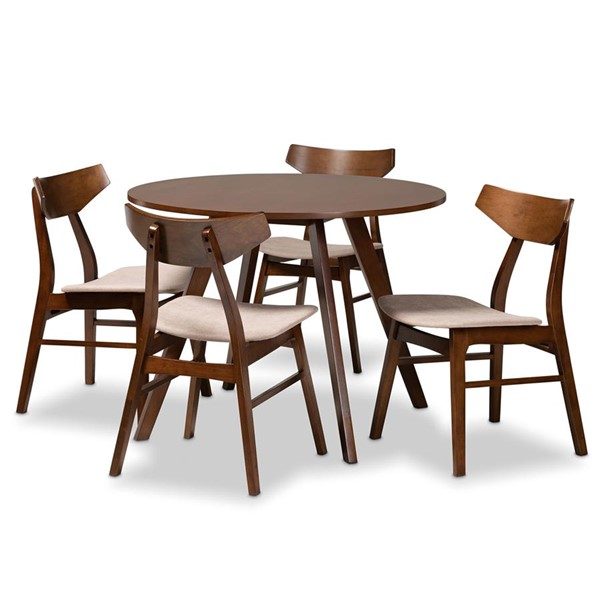 Baxton Studio Timothy 5pc Dining Room Sets BAX-Danica-Hexa-DR-SET-VAR