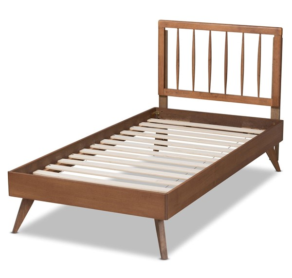 Baxton Studio Toru Ash Walnut Platform Beds BAX-TORU-ASH-WALNUT-BED-V