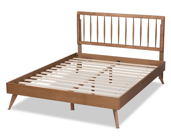 Baxton Studio Toru Ash Walnut King Platform Bed BAX-Toru-Ash-Walnut-King