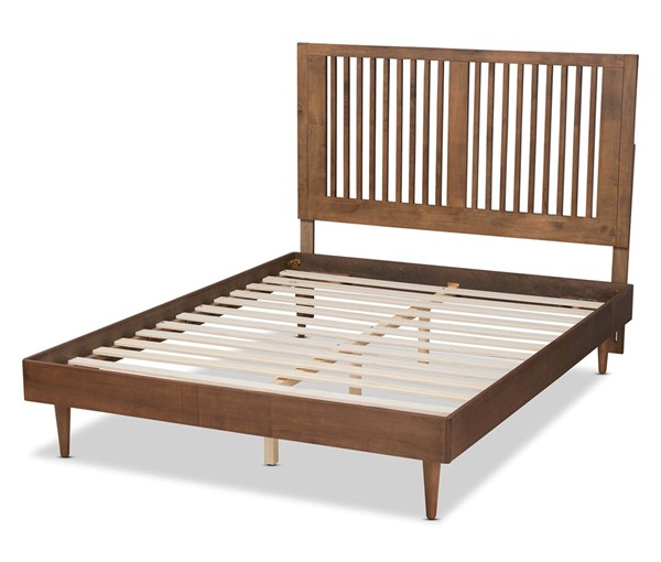 Baxton Studio Kioshi Ash Walnut King Platform Bed BAX-Kioshi-Ash-Walnut-King
