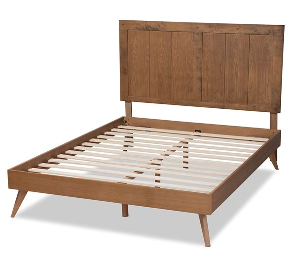 Baxton Studio Amira Ash Walnut King Platform Bed BAX-Amira-Ash-Walnut-King