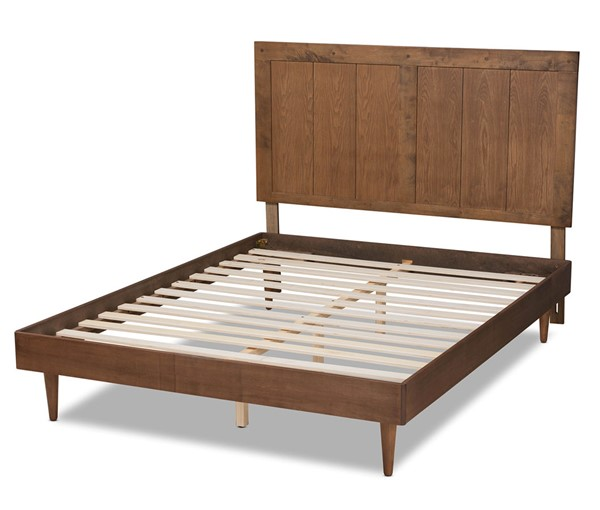 Baxton Studio Nicola Ash Walnut King Platform Bed BAX-Nicola-Ash-Walnut-King