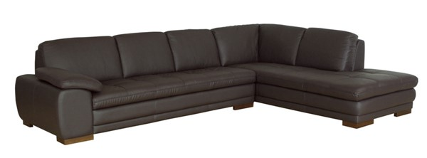 Baxton Studio Diana Dark Brown Sofa Chaise Sectional BAX-625-M9805-Sofa-lying-Leather-Match-M