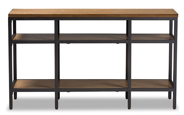 Baxton Studio Caribou Brown Wood Rectangle Console Table BAX-YLX-0005-ST