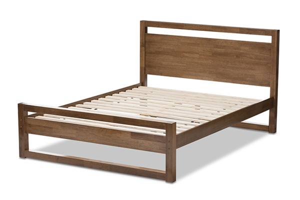 Baxton Studio Torino Walnut Brown Wood King Platform Bed BAX-SW8068-Walnut-M17-King