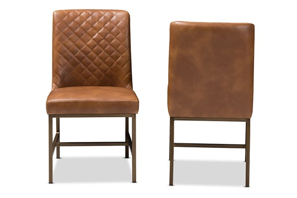 2 Baxton Studio Margaux Faux Leather Upholstered Dining Chairs BAX-Y1317-DC-VAR