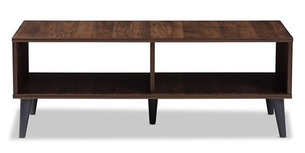 Baxton Studio Pierre Walnut Brown Wood Rectangle Coffee Table BAX-SECFT3001COLMB-BRDGY-CT