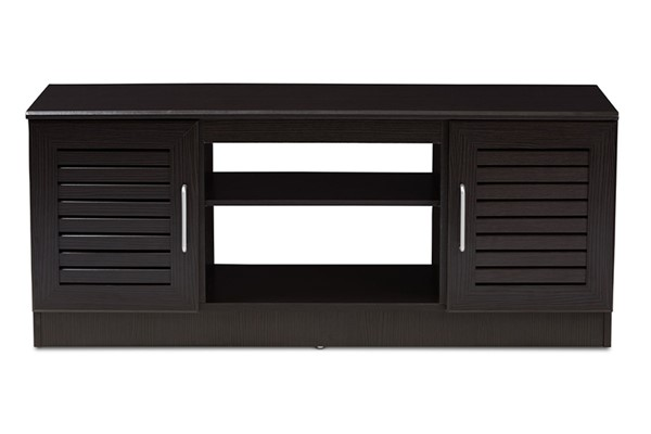 Baxton Studio Gianna Wenge Dark Brown TV Stand BAX-MH8070-Wenge-TV