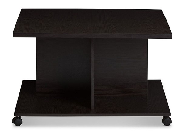 Baxton Studio Cladine Dark Brown Rectangle Coffee Table BAX-MH22003-Wenge-CT