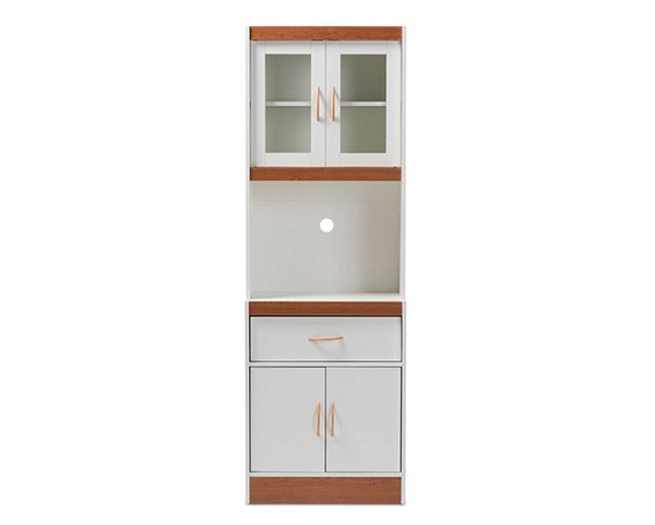 Baxton Studio Laurana White Wood Kitchen Cabinet and Hutch BAX-WS883200-White-Cherry