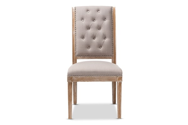 Baxton Studio Charmant Beige Fabric Upholstered Dining Chair BAX-TSF-7711-Beige-DC