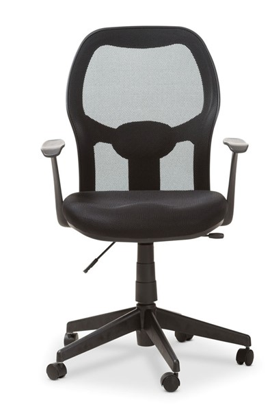 Baxton Studio Kurber Black Ergonomic Mesh Office Chair with Bifma Certification BAX-HT-4019-Black-OC