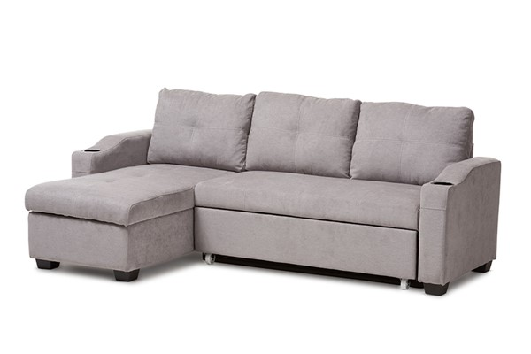 Baxton Studio Lianna Light Grey Fabric Upholstered Sectional Sofa BAX-R8068-Light-Grey-Rev-SF