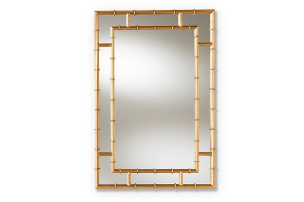 Baxton Studio Adra Antique Gold Accent Wall Mirror BAX-RXW-8008