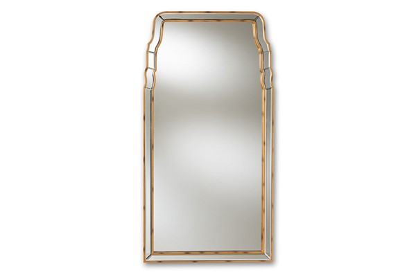 Baxton Studio Alice Antique Gold Accent Wall Mirror BAX-RXW-8011
