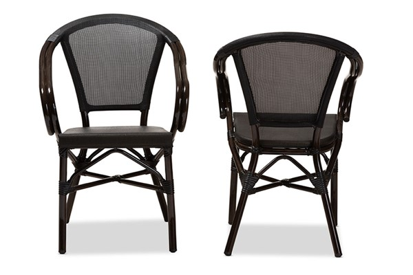 Baxton Studio Artus Indoor and Outdoor Stackable Bistro Dining Chairs BAX-WA-5101-OUTDC-VAR