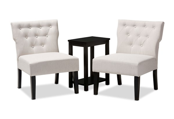 Baxton Studio Lerato 3pc Accent Chair and Table Sets BAX-C013-702-3PC-Set-VAR
