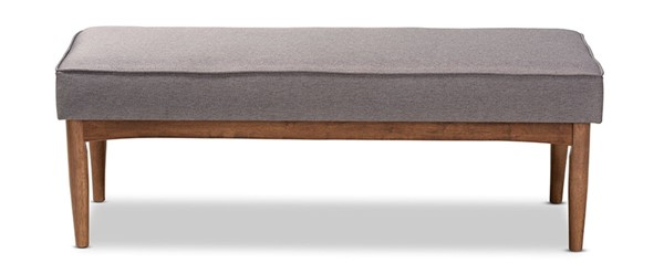Baxton Studio Arvid Gray Fabric Upholstered Dining Bench BAX-BBT8051-Grey-Bench