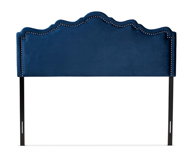 Baxton Studio Nadeen Royal Blue Velvet Upholstered King Headboard BAX-BBT6622-Navy-Blue-HB-King