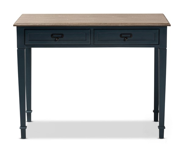 Baxton Studio Dauphine Blue Rectangle Accent Writing Desk BAX-CHR4VMMBCA-BL-SPRC-DESK