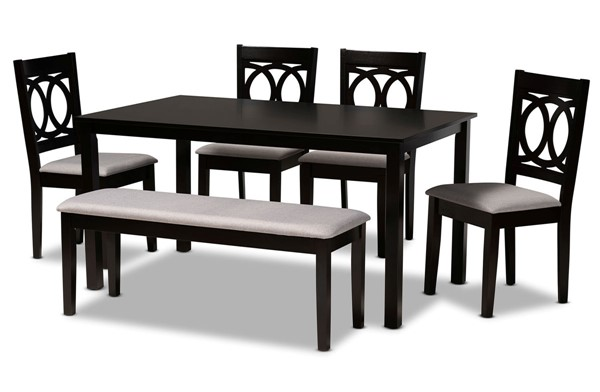 Baxton Studio Bennett 6pc Dining Room Room Sets BAX-RH315C-6PC-DR-S-VAR