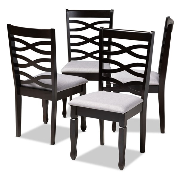 4 Baxton Studio Lanier Fabric Upholstered Dining Chairs BAX-RH318C-DC-VAR