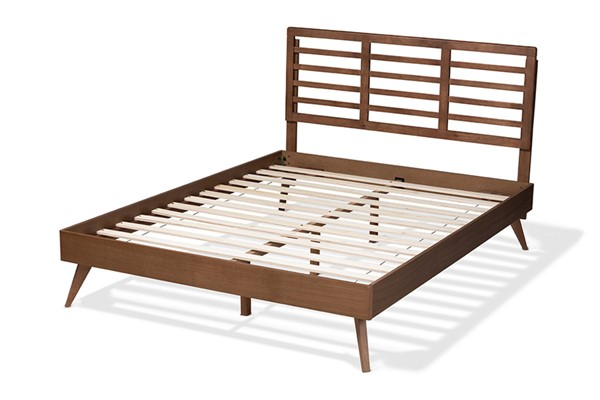 Baxton Studio Calisto Walnut Brown Wood Full Platform Bed BAX-Calisto-Ash-Walnut-Full
