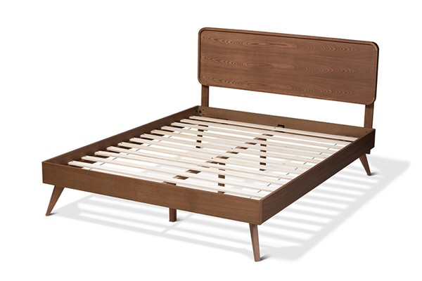 Baxton Studio Demeter Walnut Brown Wood Full Platform Bed BAX-Demeter-Ash-Walnut-Full