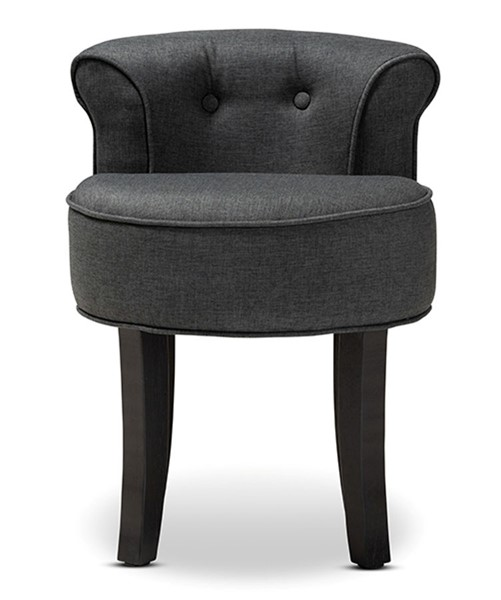 Baxton Studio Cerise Charcoal Fabric Upholstered Accent Chair BAX-1812-Grey-CC