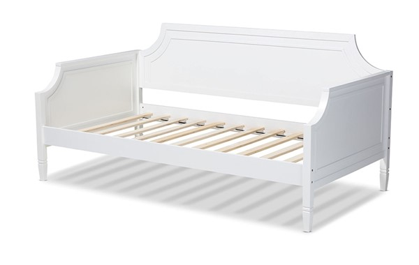 Baxton Studio Mariana White Wood Twin Daybed BAX-Mariana-White-Daybed