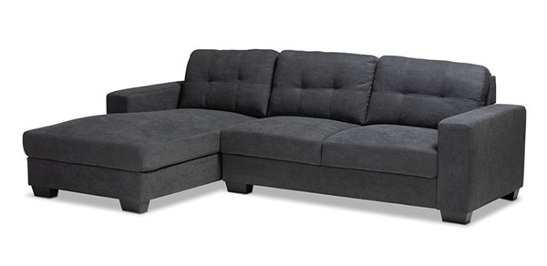 Baxton Studio Langley Fabric Sectional Sofa with Left Facing Chaises BAX-J099C-LFC-SEC-VAR