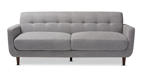 Baxton Studio Allister Light Grey Fabric Upholstered Sofa BAX-J1453-Light-Grey-SF
