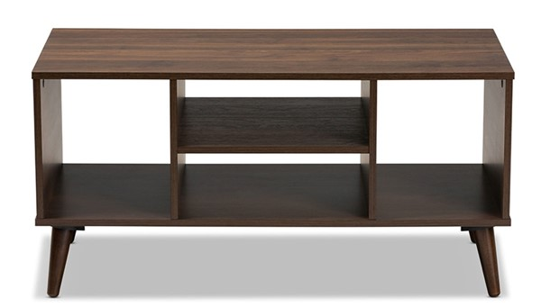 Baxton Studio Linas Walnut Wood Rectangle Coffee Table BAX-CT8001-Columbia-Walnut-CT