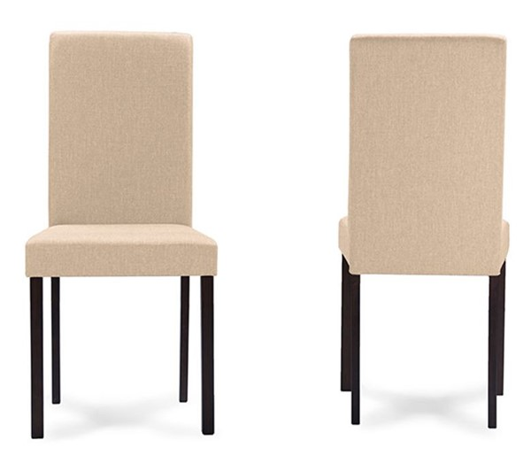 4 Baxton Studio Andrew Beige Fabric Upholstered Dining Chairs BAX-ANDREW-DIN-CH-BG-FAB