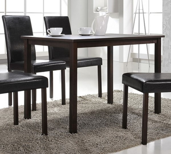 Baxton Studio Andrew Dark Brown Rectangle Dining Table BAX-Andrew-Dining-Table
