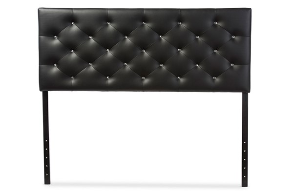 Baxton Studio Viviana Faux Leather Upholstered Button Tufted Headboards BAX-BBT65-HDBD-VAR