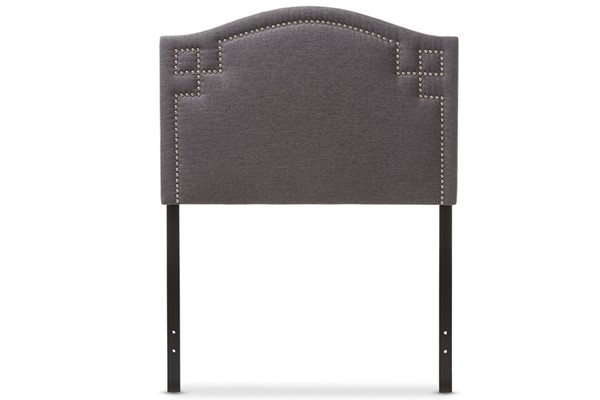Baxton Studio Aubrey Dark Grey Fabric Upholstered Twin Headboard BAX-BBT6563-Dark-Grey-Twin-HB