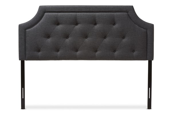 Baxton Studio Mars Dark Grey Fabric Full Headboard BAX-BBT6623-DGY-FHB-H1217-20