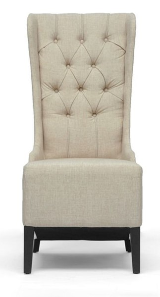 Baxton Studio Vincent Beige Fabric Upholstered Accent Chair BAX-BH-A32386-Beige-AC