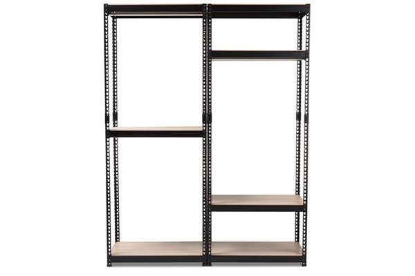 Baxton Studio Gavin Metal 7 Shelves Closet Storage Racking Organizers BAX-BH06-BH09-BC-VAR