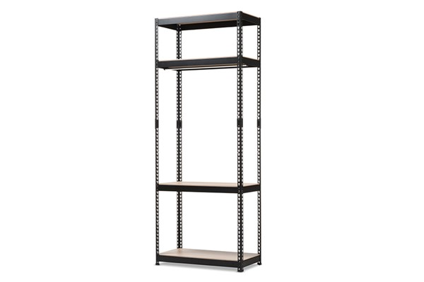 Baxton Studio Gavin Metal 4 Shelves Closet Storage Racking Organizers BAX-BH09-BC-VAR