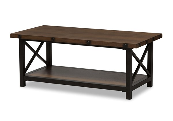 Baxton Studio Herzen Brown Wood Occasional Cocktail Coffee Table BAX-CA-1117-CT-YLX-2680CT