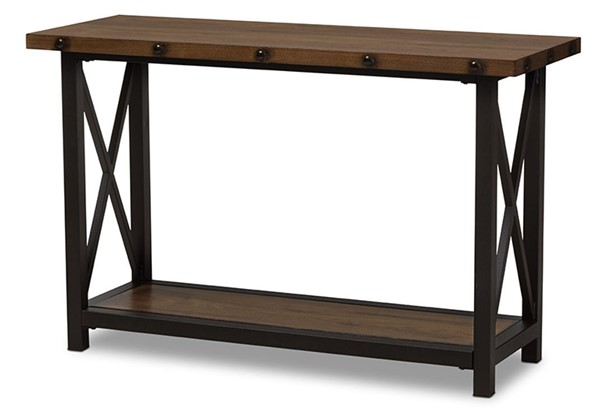 Baxton Studio Herzen Brown Wood Occasional Console Table BAX-CA-1117-ST-YLX-2680ST