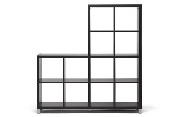 Baxton Studio Sunna Modern Dark Brown Cube Shelving Unit BAX-CB-2224
