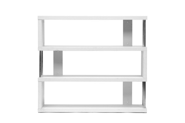 Baxton Studio Barnes White 3 Shelves Bookcase BAX-FP-3D-White