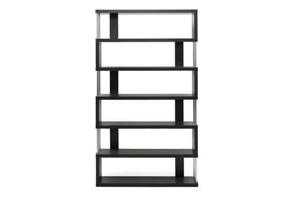 Baxton Studio Barnes Dark Brown 6 Shelves Bookcase BAX-FP-6D
