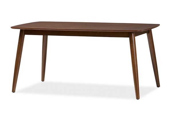 Baxton Studio Flora Medium Brown Wood Rectangle Dining Table BAX-Flora-Medium-Oak-DT