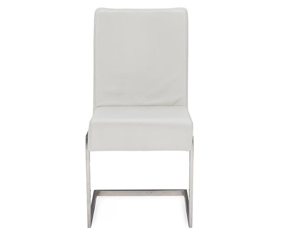 2 Baxton Studio Toulan White Faux Leather Upholstered Dining Chairs BAX-GY-180714-White